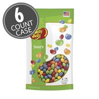 Sours Jelly Beans - 9.8 oz Pouch Bag - 6 Count Case