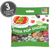 Soda Pop Shoppe® Jelly Beans 3.5 oz  Grab & Go® Bag - 3 Pack