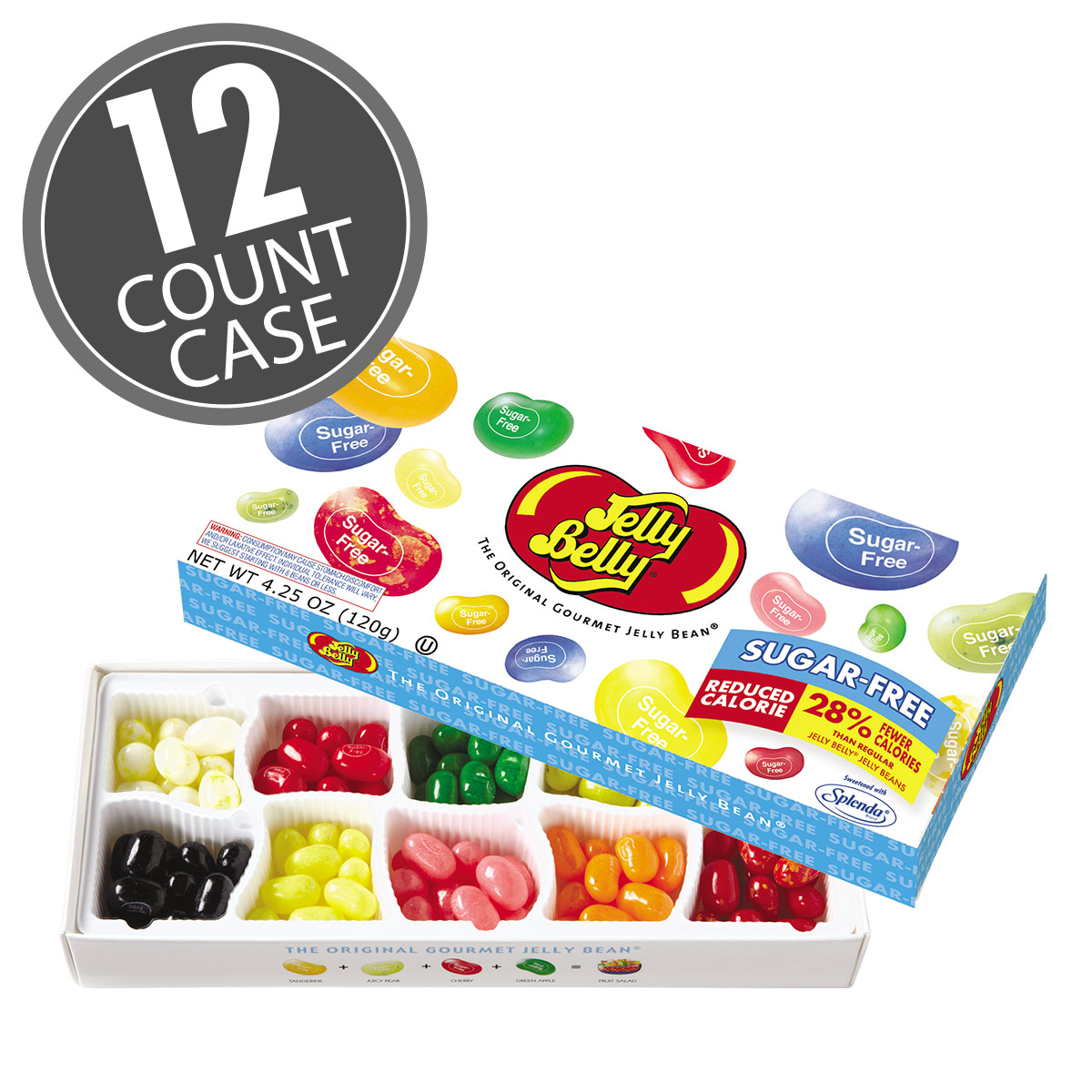10-Flavor Sugar-Free Jelly Beans Gift Box - 12 Count Case