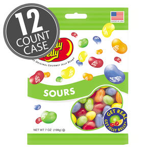 Sours Jelly Beans - 7 oz Bag - 12-Count Case