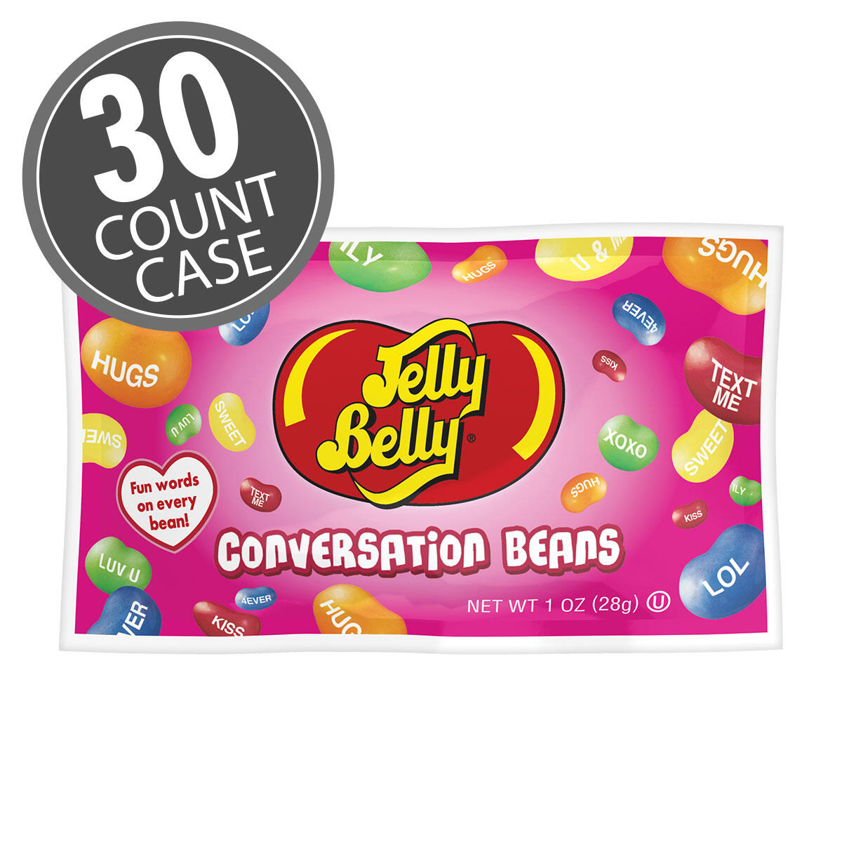 Jelly Belly Conversation Beans® 1 oz Bag - 30-Count Case