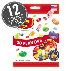 30 Assorted Jelly Bean Flavors - 7 oz Bags - 12-Count Case