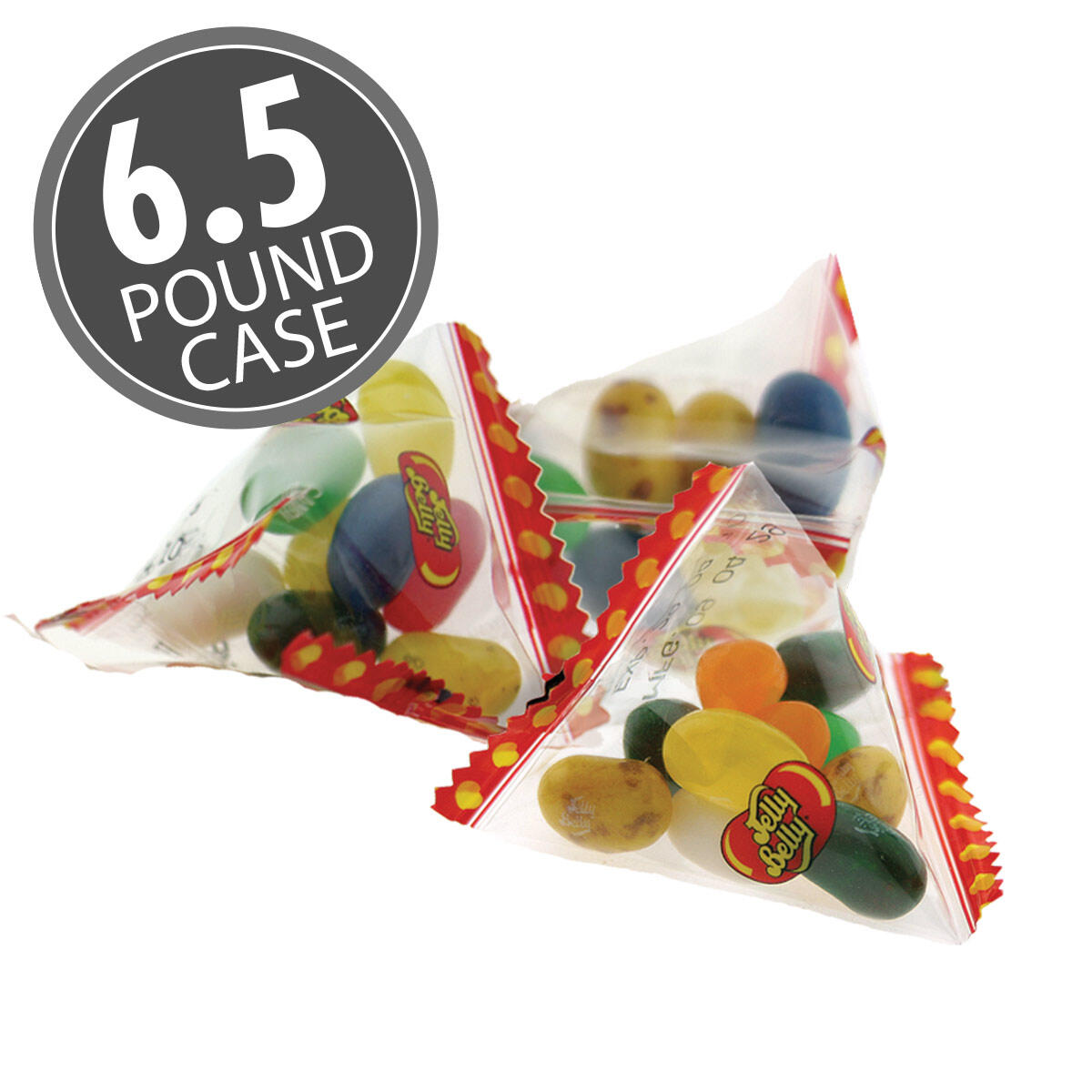 10 Assorted Jelly Bean Flavors - Pyramid Bags - 6.5 lb Case