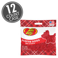 Scottie Dogs Red Licorice 2.75 oz Grab & Go® Bag - 12 Count Case