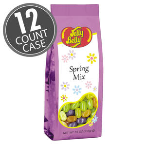 Jelly Belly Spring Mix - 7.5 oz Gift Bag - 12 Count Case