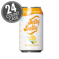 Jelly Belly Orange Sherbet Sparkling Water - 24 Count Case