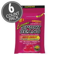 Extreme Sport Beans® Jelly Beans with CAFFEINE - Pomegranate 6-Count Pack