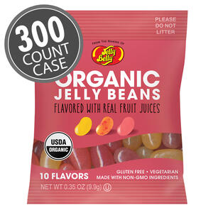Organic Jelly Beans from the makers of Jelly Belly: 0.35 oz Assorted Sample Bags 300-Case
