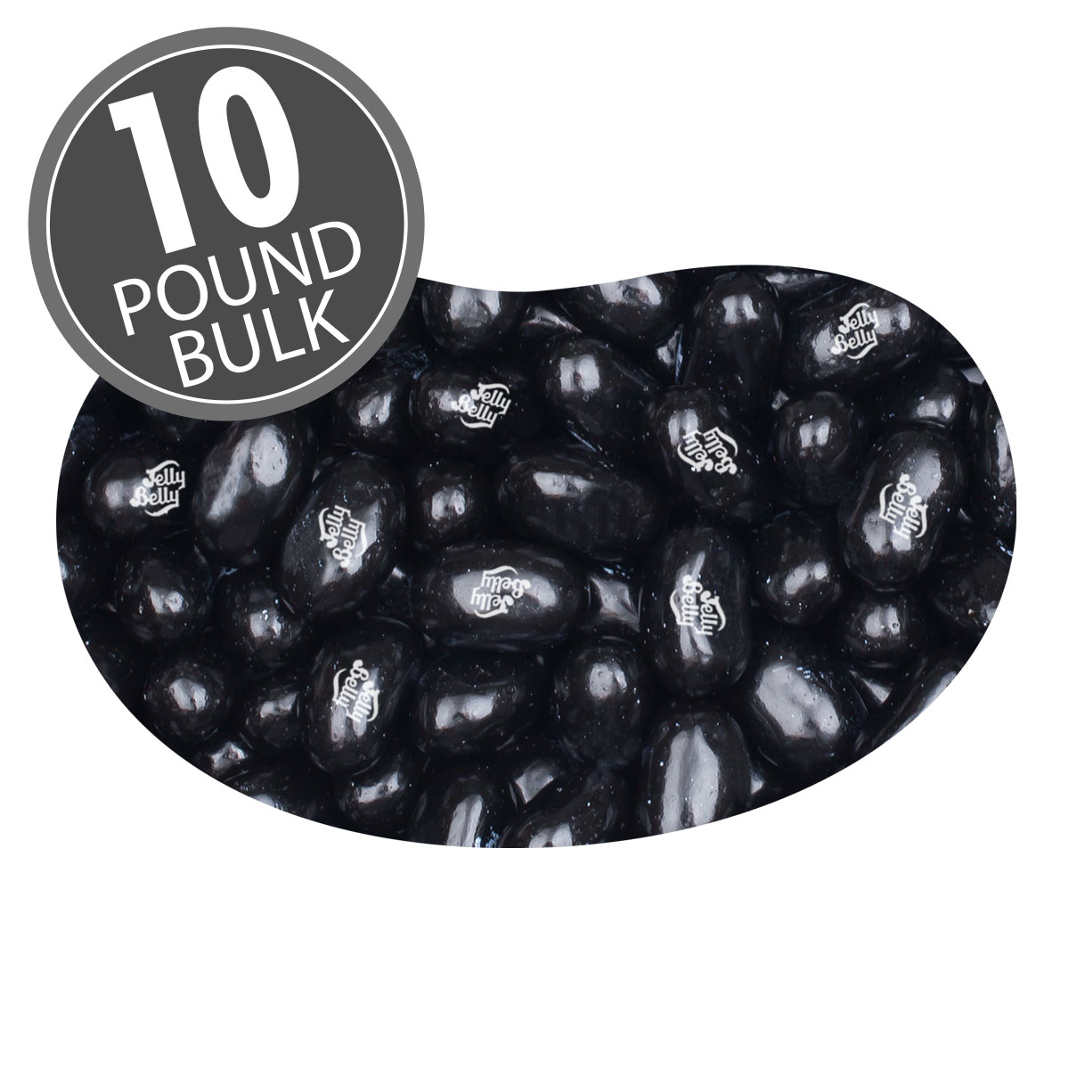Licorice Jelly Beans - 10 lbs bulk