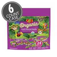 Jelly Belly Organic Fruit Snacks Fun Pack 9.6 oz bag - 6 Count Case