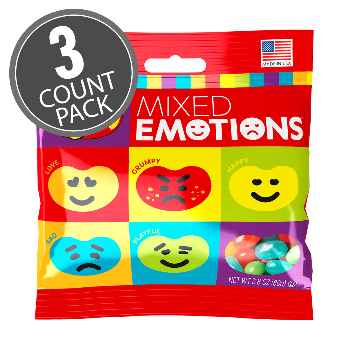 Jelly Belly Mixed Emotions® 2.8 oz Grab & Go® Bag 3-Count Pack