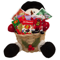 Snowman Tophat Christmas Holiday Gift Basket