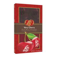 Jelly Belly Cherry Filled Chocolate Bar - 1.75 oz - 24 Count Case