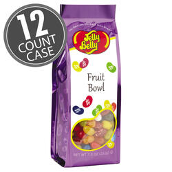 Fruit Bowl Mix Jelly Beans - 7.5 oz Gift Bags - 12-Count Case