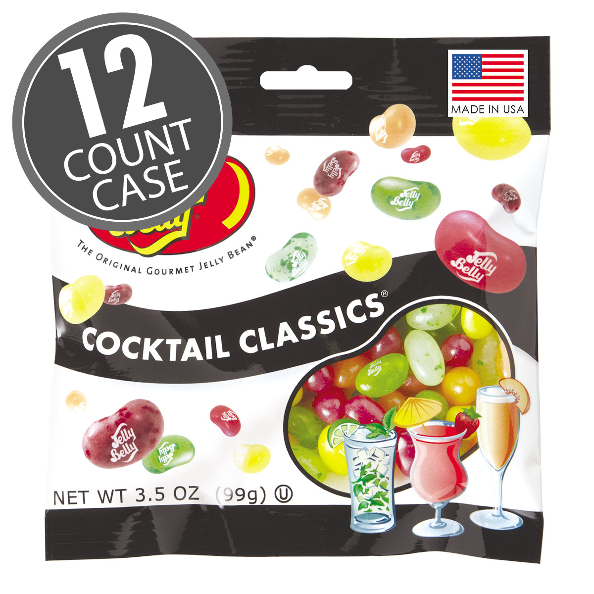 Cocktail Classics® Jelly Beans - 3.5 oz Bag - 12 Count Case