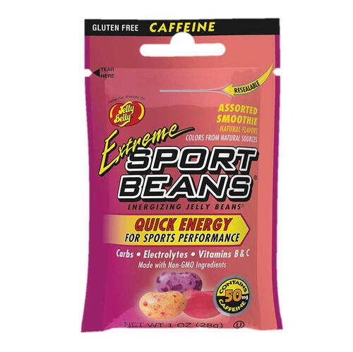 Extreme Sport Beans® Jelly Beans with CAFFEINE -  Assorted Smoothie Flavors 24-Pack