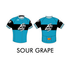 Jelly Belly Sour Grape Retro Cycling Jersey - Adult - XL