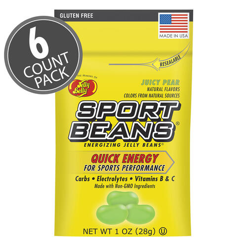 Sport Beans® Jelly Beans Juicy Pear 6-Count Pack