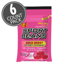 Sport Beans® Jelly Beans Fruit Punch 6-Count Pack