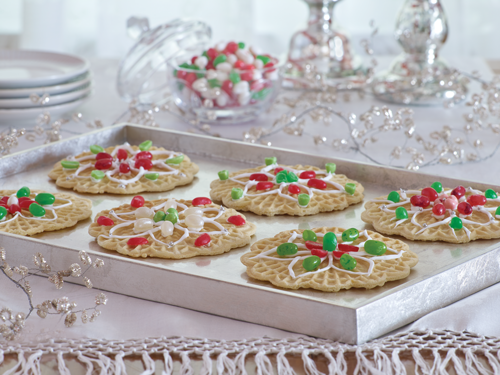 Delicate Pizzelle Christmas Cookies