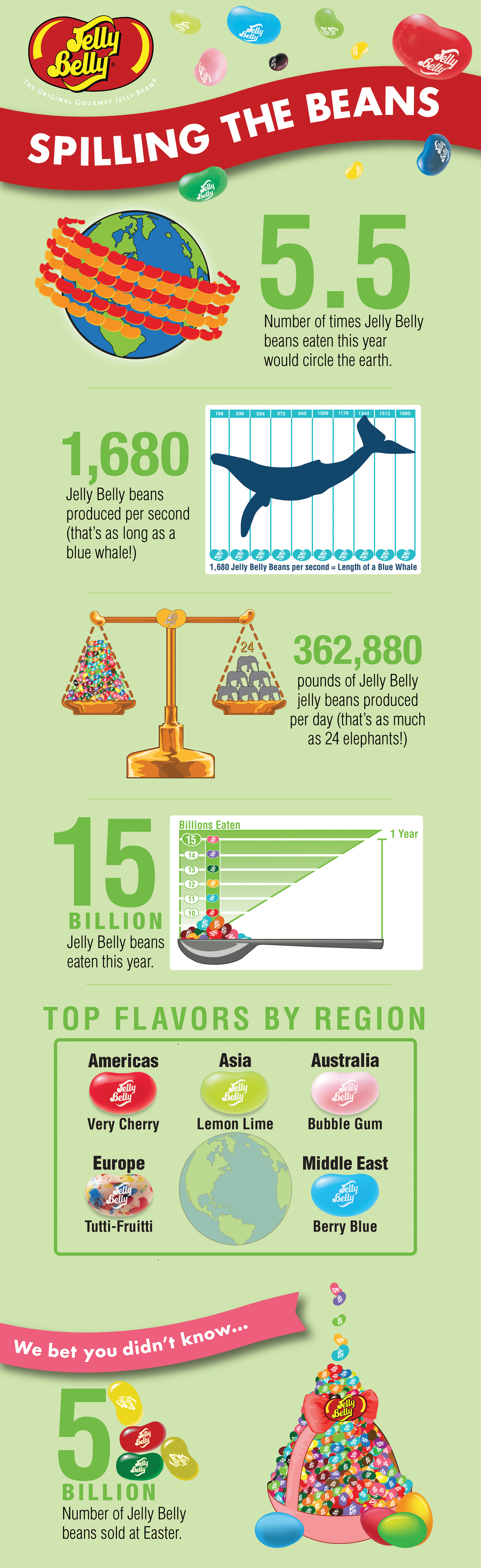 Jelly Belly Spilling the Beans Infographic