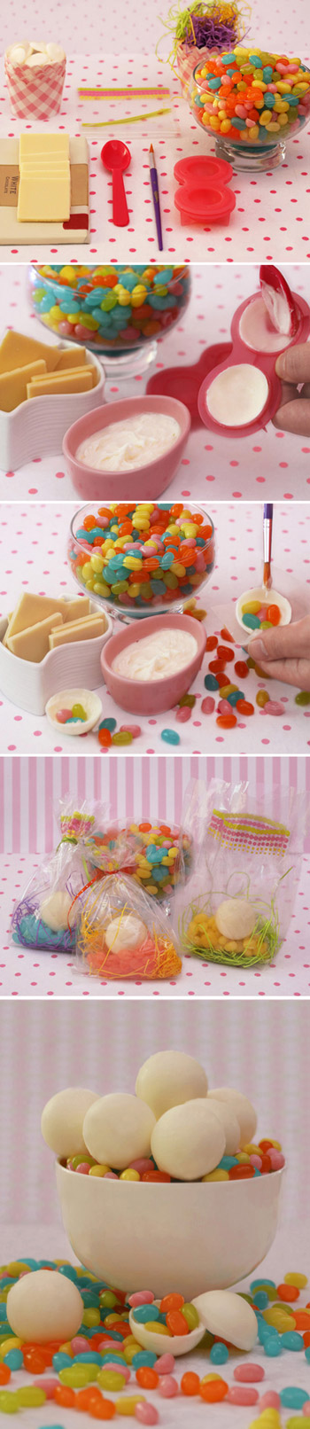 White Chocolate Jelly Belly Surprise Balls Tutorial