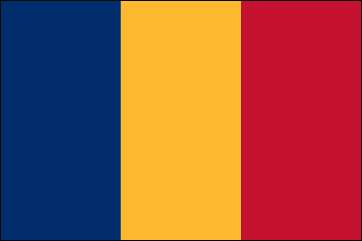 Romanian Flag. Link Clicks to Romanian Jelly Belly Site