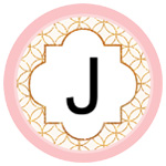Modern Monogram Light Pink and Gold Printables