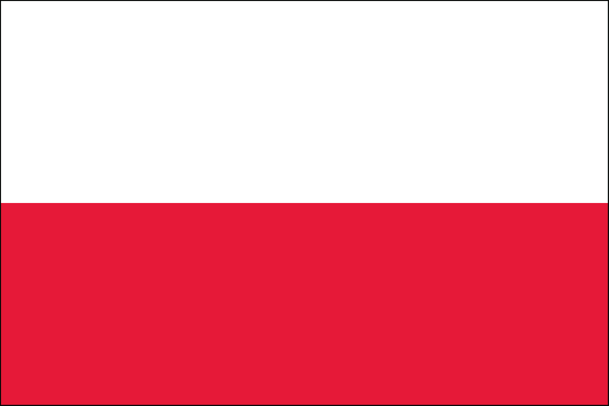 Polish Flag. Link Clicks to Polish Jelly Belly Site