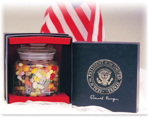 President Ronald Reagan personal jar of Jelly Belly beans