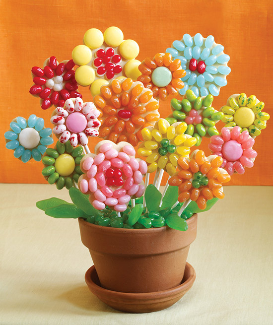 Jelly Belly Flower Cookie Pops