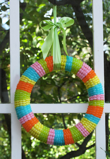 Jelly Belly Bean Spring Wreath