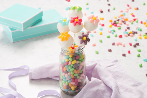 Jelly Belly Flower Cake Pops