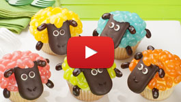 How to make Easter Sheep Cupcakes video