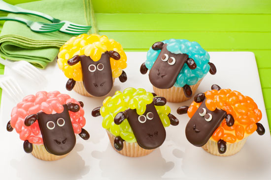 Spring Sheep Cupcakes image
