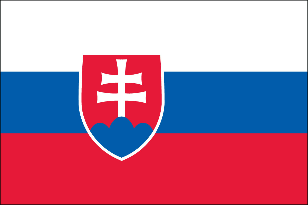 Slovakian Flag. Link Clicks to Slovakian Jelly Belly Site