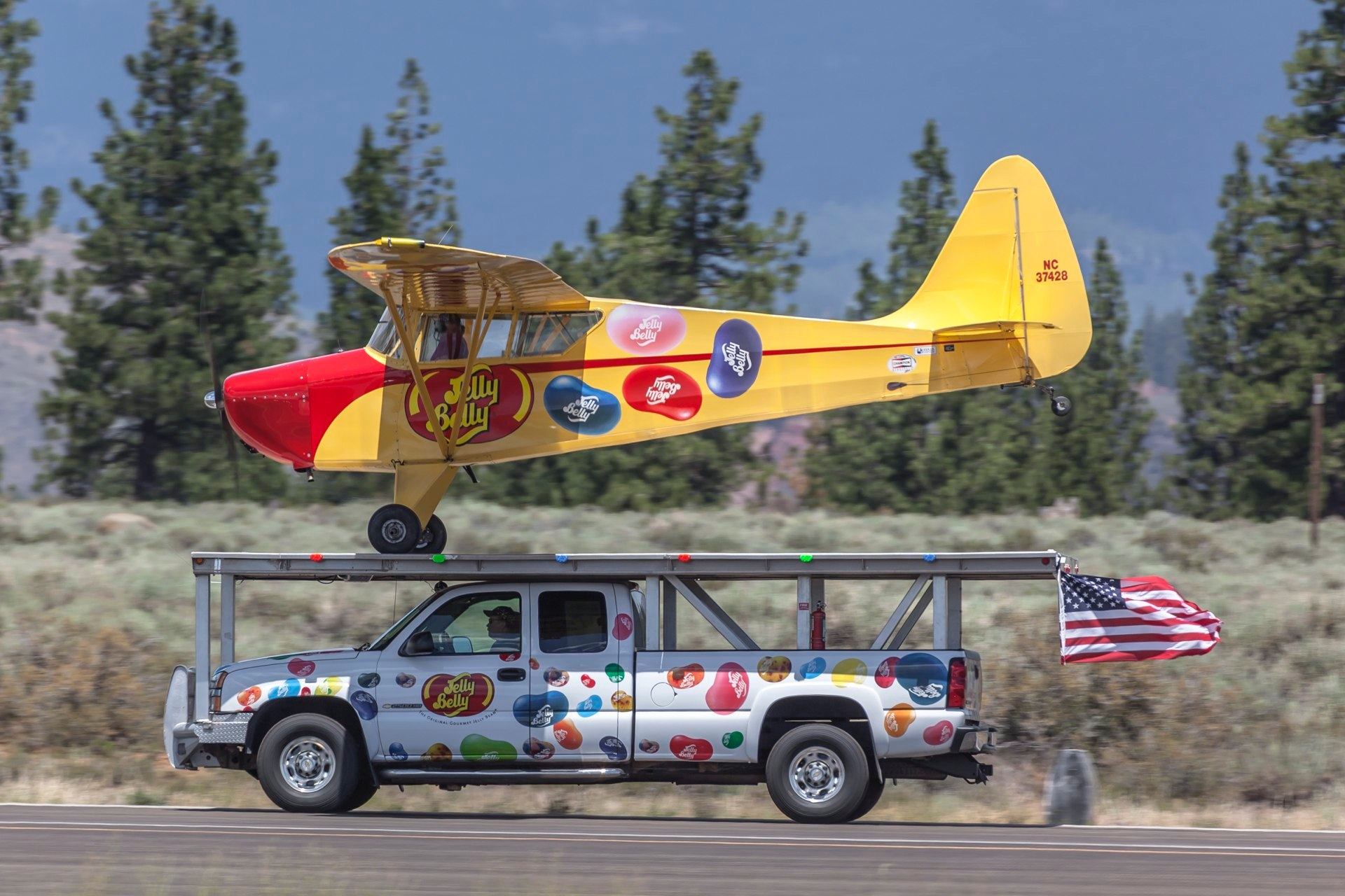 Jelly Belly truck and Airplane