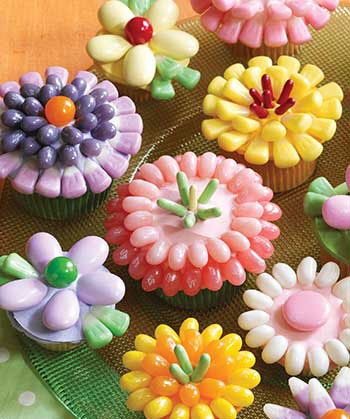Spring flowers cupcakes recipe jelly belly canada spring flowers cupcakes mightylinksfo