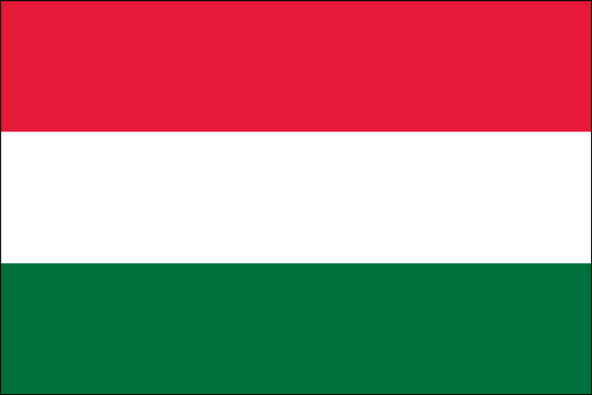 Hungarian Flag. Link Clicks to Hungarian Jelly Belly Site