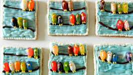 Jelly Beans Birds on a Wire Cookies