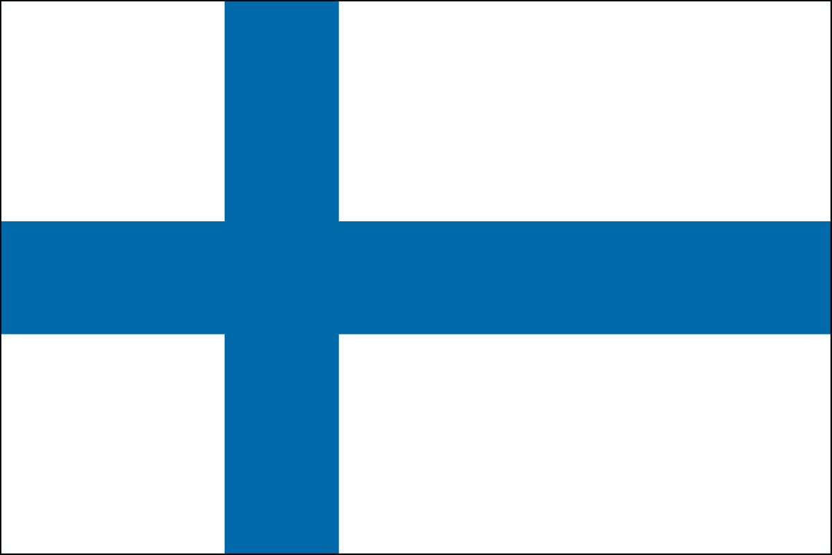 Finnish Flag. Link Clicks to Sweden Jelly Belly Site