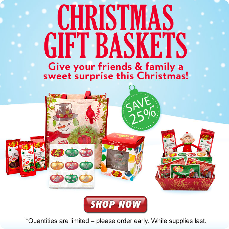 Jelly Belly Christmas Gift Baskets