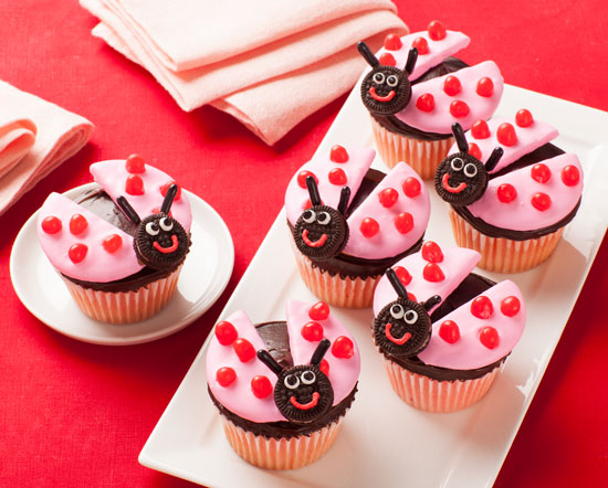 Jelly Belly Love Bug Cupcakes