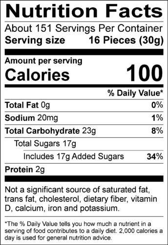 Gummy Bear Nutrition Label - Labels