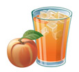 Peach Bellini Drink