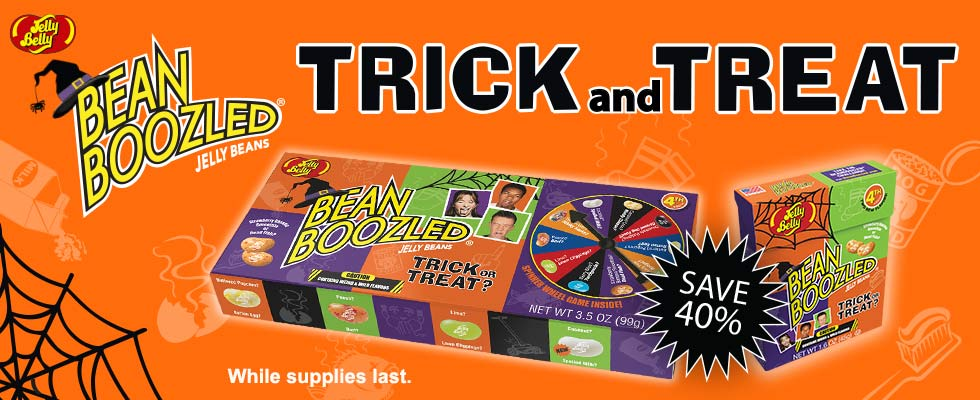 save forty percent on Halloween Beanboozled