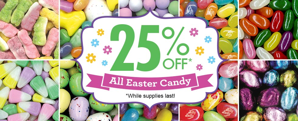 25% off Easter category, no coupon code required