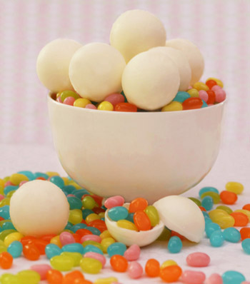 White Chocolate Jelly Belly Surprise Balls